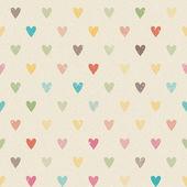 Valentine colorful retro seamless hearts pattern — Stock Vector
