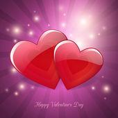 Valentine's Day magic love poster card design — Stock Vector
