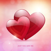 Valentine's Day just you and me bright poster — Cтоковый вектор