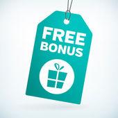 Free bonus gift tag — Stock Vector