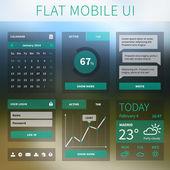 Vector flat Mobile Web UI interface — Stock Vector