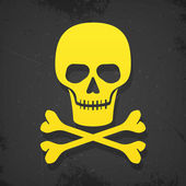 Skull and crossbones poster — Stockvektor