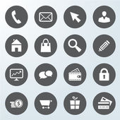 Set of business web shop icons — Stockvector