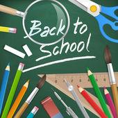 Retour à fond vecteur école — Vecteur