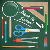 Back to school tools object vector element — Stock Vector