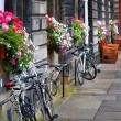 Bicycles in Edinburgh — Stock Photo