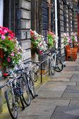 велосипеды в эдинбурге — Стоковое фото