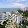Aerial view of a hotel building and beach at pattaya, Thailand — Stock Photo #33737887