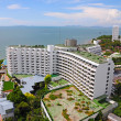 Aerial view of a hotel building and beach at pattaya, Thailand — Stock Photo #33739319