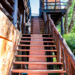 Wooden stairway — Stock Photo