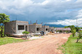 Many new house under construction — Stock Photo