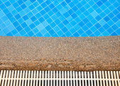 Blue swimming pool — Stock Photo