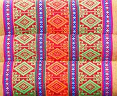 Texture pillow Thai style cotton. handmade — Stock Photo