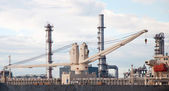 Crane at Oil refinery factory in Thailand — Stock Photo