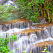Waterfall in deep rain forest jungle (Huay Mae Kamin Waterfall i — Stock Photo