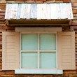 Vintage windows on brick wall — Stock Photo