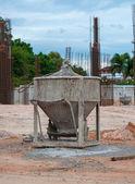 Cement mixer machine equipment in worksite — Stock Photo
