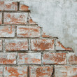 Cracked concrete brick wall background — Stock Photo