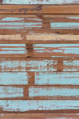 Wooden planks texture with cracked color Paint — Stock Photo