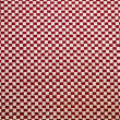Red and white linen fabric texture for background — Stockfoto