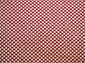 Red and white linen fabric texture for background — Stock Photo