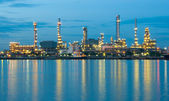 Oil refinery factory at river Thailand — Stock Photo