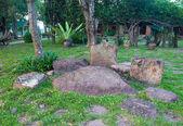 Stone beautiful in the garden — Stock Photo