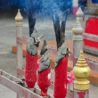 Stock Photo: Burning Incense in Temple