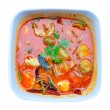 Hot and sour soup (Tom Yum Goong, Thai food) — Stock Photo