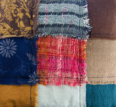 Different colorful fabrics texture — Stock Photo