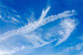 Céu azul com nuvens — Fotografia Stock