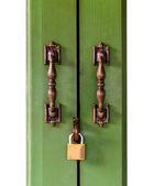 Door handle and master key — Stock Photo