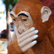 Stock Photo: Thai sculpture of monkey gag