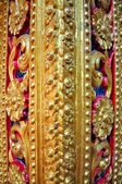 Pole of Thai temple texture — Stock Photo