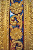 Pole of Thai temple texture — Photo