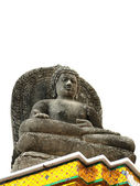 Statue of Buddha white background — Stok fotoğraf