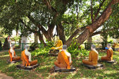 Buddha statue edify five Buddha statue in nature — Stockfoto