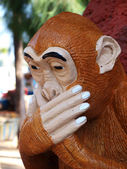Thai sculpture of monkey gag — Stock Photo