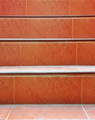 Red concrete staircase — Stockfoto