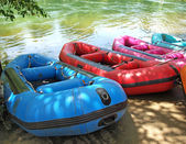 Inflatable boat, Rubber boat — Stock Photo