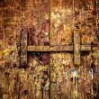 Traditional Thai style wooden door latch — Stock Photo