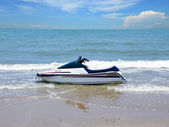 Jet ski, Water scooter on the beach — Stock Photo