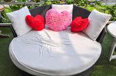 Sofa furniture pillow for Couples. — Stock Photo