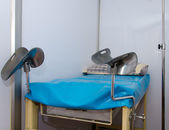 Bed for gynecologist cabinet — Stock Photo