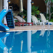 Blue swimming pool at hotel — Stock Photo #39816633