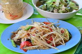 Thai food papaya salad. — Stock Photo