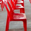Red plastic chair — Stock Photo #39820713