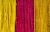 Raw silk thread for background — Stock Photo