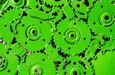 Green Mechanical ratchets for background — Stock Photo