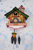 Relógio de madeira vintage — Foto Stock